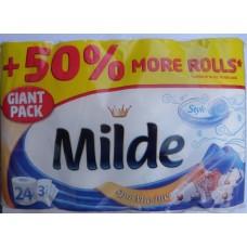 Тоалетна хартия Милде 3 пласта 24 рула Спа Марин