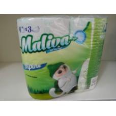 Тоалетна хартия Малива 3 пласта 4 рула Алпин