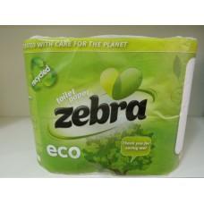 Тоалетна Хартия Зебра Еко 4 пласта 4 рула