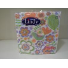 Салфетки Линди цветя 28х28 1 пласт 60 броя