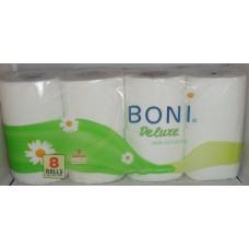 Тоалетна Хартия Бони Делукс Лайка 8 рула, трипластова